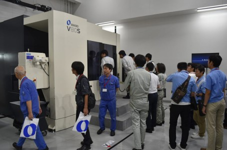 Makino Milling Machine showcased a new vertical 5 axis MC in Nagoya