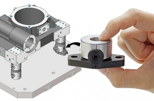 Product Showcase: Bottom-affixing Die mold and component clamping unit