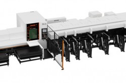 High speed laser processing machine for machining of small diameter pipes