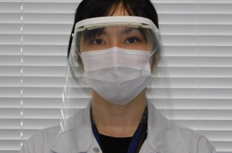 Nissan manufactures protective face shields and provides them to medical sites