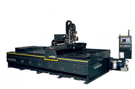 Plasma cutting machine with improved cutting speed due to full model change