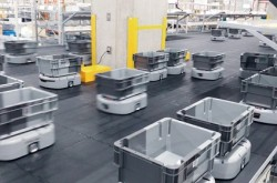 ORBIS, a cosmetics company, operates an automatic shipping system with 330 AGVs