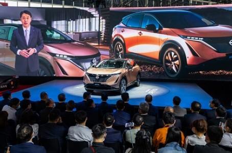 """Nissan's new crossover EV """"Ariya"""" made its China debut at Auto China 2020"""