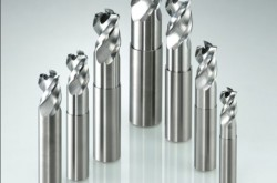 End mill for aluminum alloys machining with high efficiency